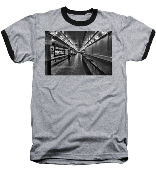 Empty Pike Place Market In Seattle Baseball T-Shirt