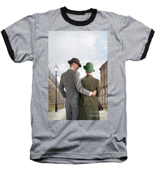 Empty Street With Victorian Buildings Baseball T-Shirt by Lee Avison
