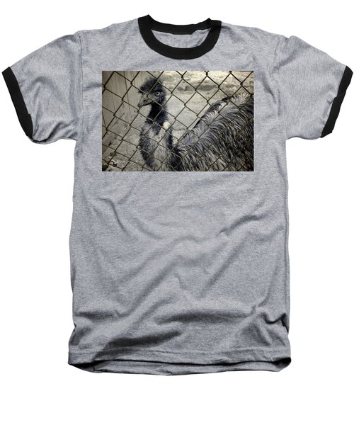 Emu At The Zoo Baseball T-Shirt