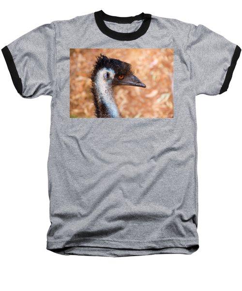 Emu Profile Baseball T-Shirt by Mike  Dawson