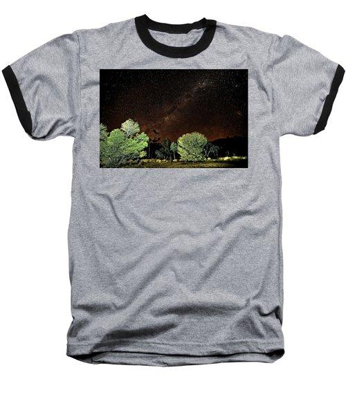 Emu Rising Baseball T-Shirt by Paul Svensen