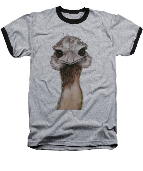 Emu Selfie Baseball T-Shirt by Kathy Carothers
