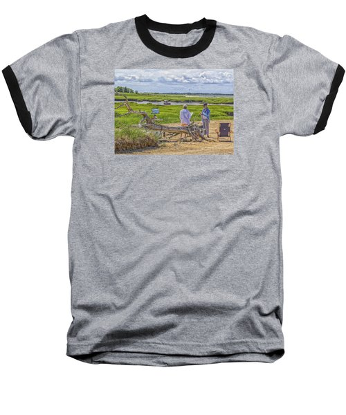 Baseball T-Shirt featuring the photograph En Plein Air  Cape Cod by Constantine Gregory