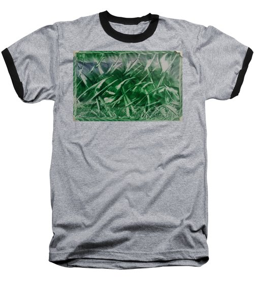 Encaustic Green Foliage With Some Blue Baseball T-Shirt