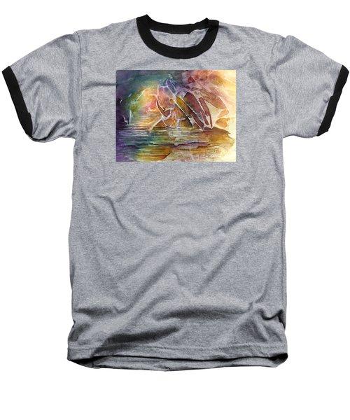 Enchanted Cavern Baseball T-Shirt by Allison Ashton