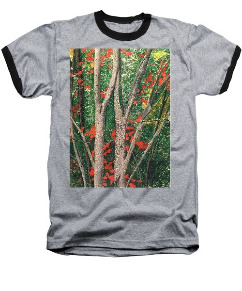 Enchanted Birches Baseball T-Shirt