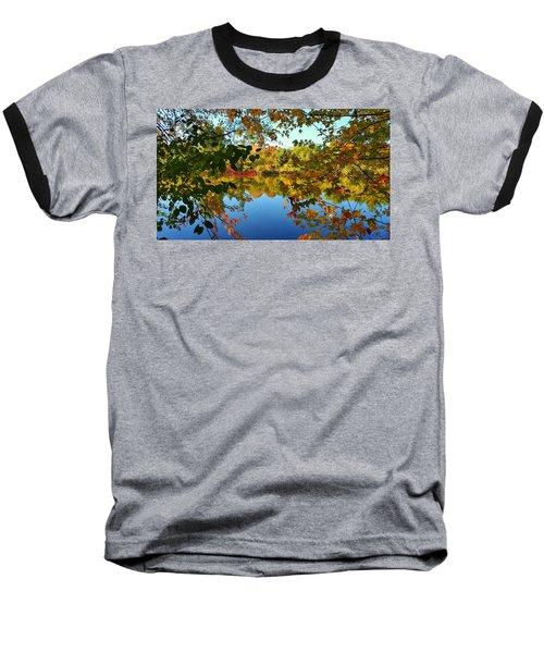 Baseball T-Shirt featuring the photograph Enchanted Fall by Valentino Visentini