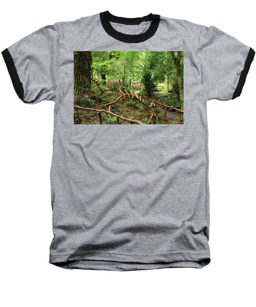 Enchanted Forest Baseball T-Shirt by Aidan Moran
