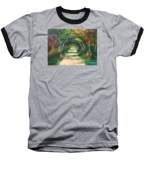 Baseball T-Shirt featuring the painting Enchanted Forest by Denise Tomasura