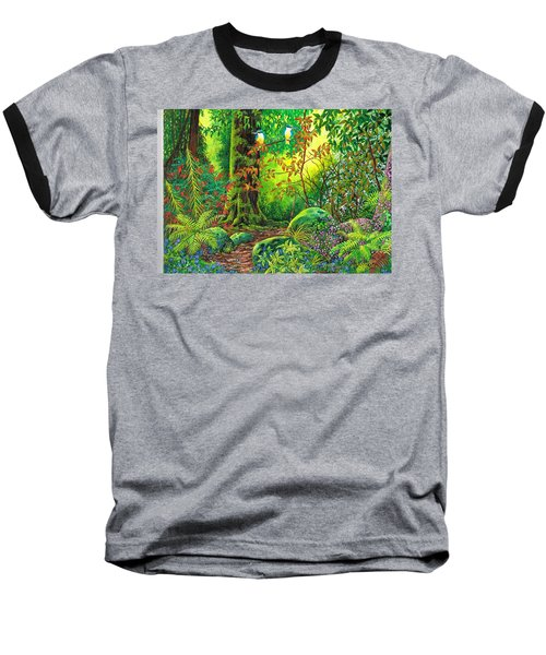 Baseball T-Shirt featuring the painting Enchanted Forest by Val Stokes