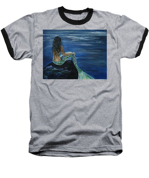 Enchanted Mermaid Baseball T-Shirt by Leslie Allen