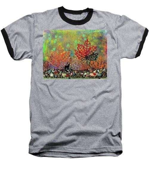 Enchanted Pathways Baseball T-Shirt by Donna Blackhall