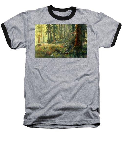 Enchanted Rain Forest Baseball T-Shirt
