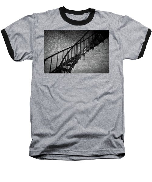 Enchanted Staircase II - Currituck Lighthouse Baseball T-Shirt by David Sutton