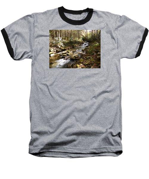 Enchanted Stream - October 2015 Baseball T-Shirt by Joel Deutsch