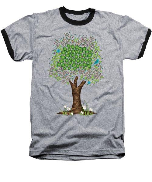 Enchanted Tree Baseball T-Shirt by Serena King