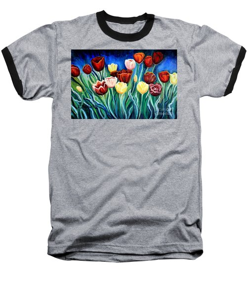 Enchanted Tulips Baseball T-Shirt