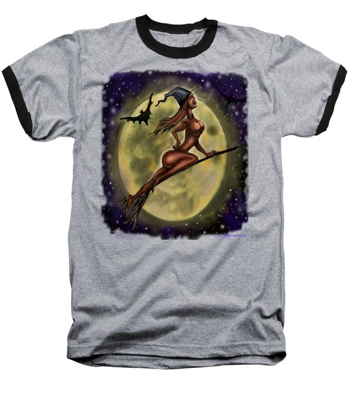 Enchanting Halloween Witch Baseball T-Shirt