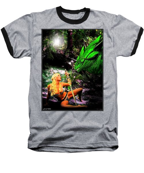 Encounter With A Dragon Baseball T-Shirt