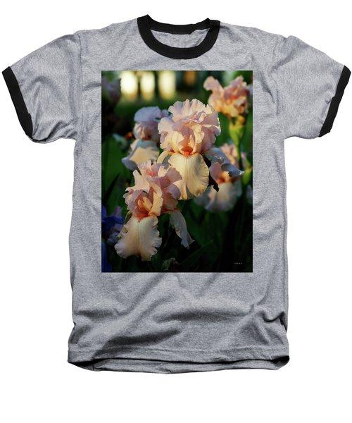 End Of Day Pink Irises 6702 H_2 Baseball T-Shirt