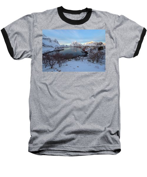 Baseball T-Shirt featuring the photograph End Of Day, Reine, Lofoten,  by Dubi Roman