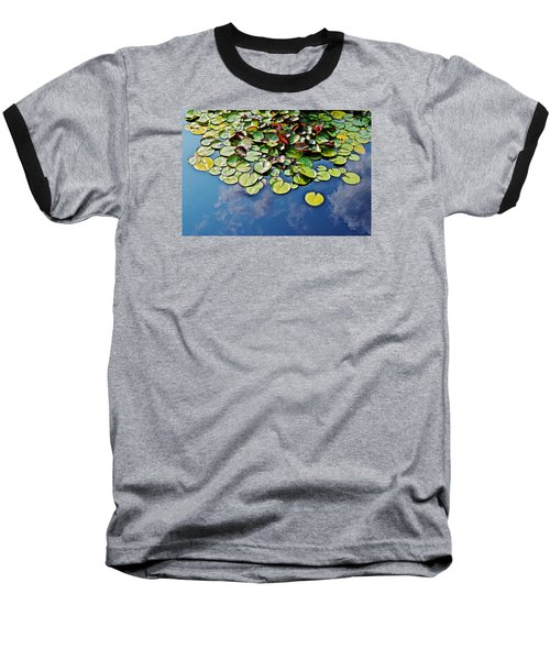 End Of July Water Lilies In The Clouds Baseball T-Shirt by Janis Nussbaum Senungetuk