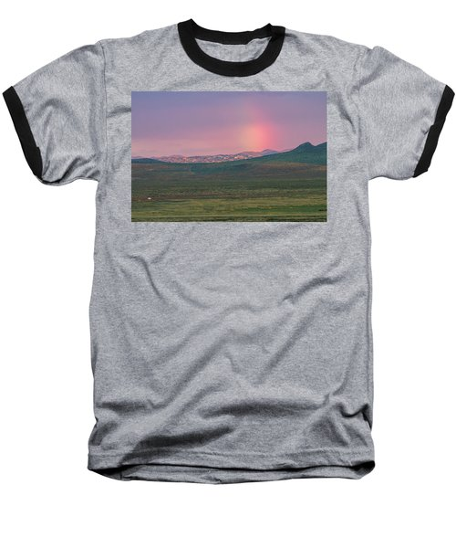 Baseball T-Shirt featuring the photograph End Of Rainbow by Hitendra SINKAR