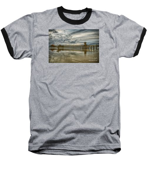 End Of Sunset Surf At Pier Baseball T-Shirt