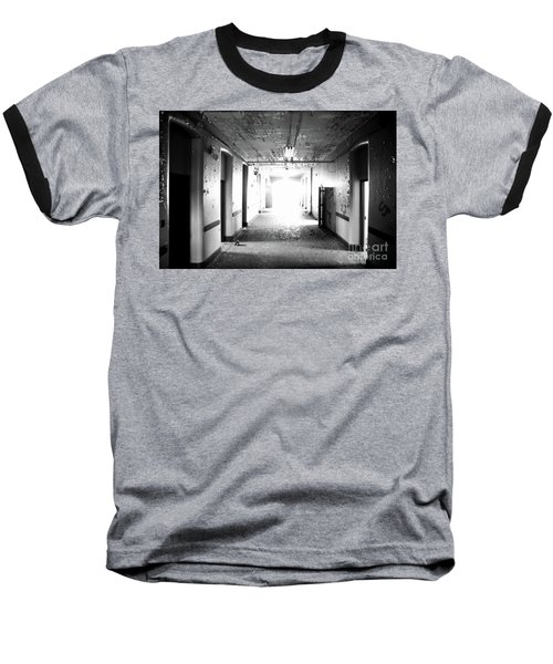 End Of The Hall Baseball T-Shirt by Randall Cogle