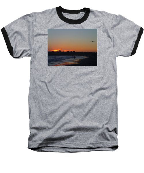 End Of The Island Day. Baseball T-Shirt by Robert Nickologianis