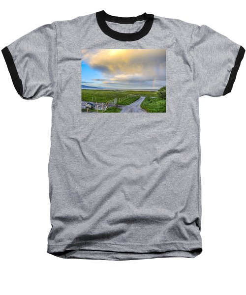 Baseball T-Shirt featuring the photograph End Of The Road, Brora, Scotland by Sally Ross