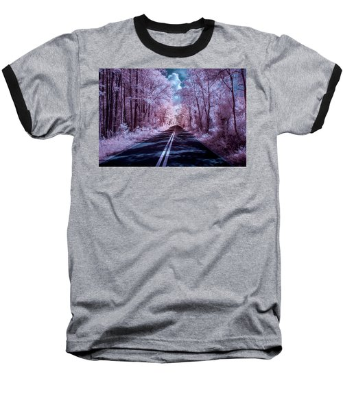 Baseball T-Shirt featuring the photograph End Of The Road by Louis Ferreira