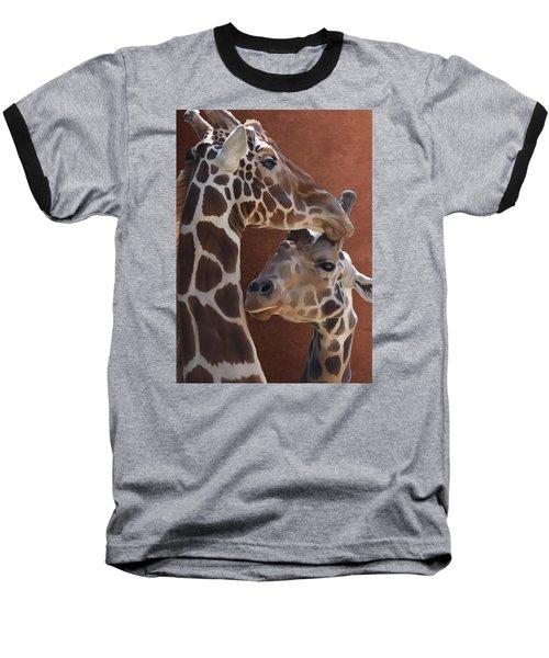 Endearing Giraffes Baseball T-Shirt