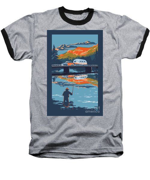 Enderby Cliffs Retro Airstream Baseball T-Shirt
