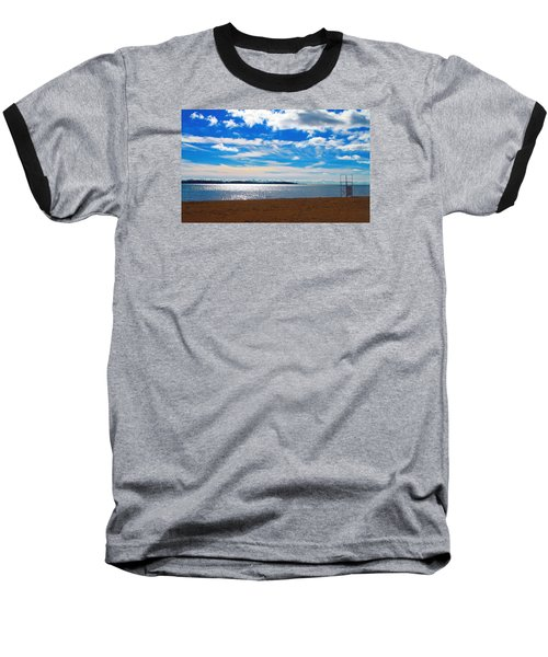 Baseball T-Shirt featuring the photograph Endless Sky by Valentino Visentini