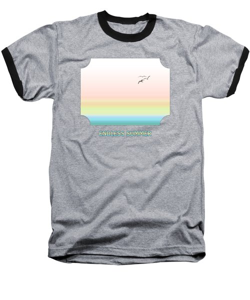 Endless Summer - Blue Baseball T-Shirt by Gill Billington