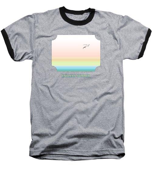Endless Summer - Pink Baseball T-Shirt by Gill Billington