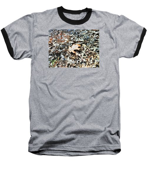 Baseball T-Shirt featuring the photograph Endurance Of A Leaf by Kay Gilley