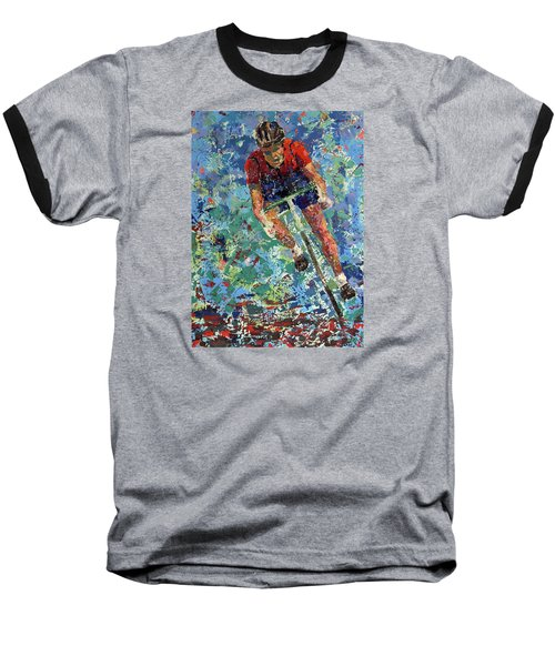 Enduring The Last Mile Baseball T-Shirt by Walter Fahmy