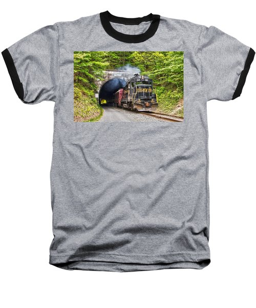 Engine 501 Coming Through The Brush Tunnel Baseball T-Shirt