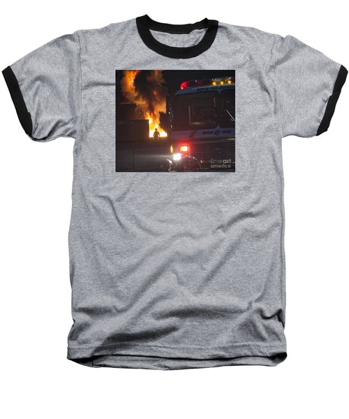 Baseball T-Shirt featuring the photograph Engine 6 by Jim Lepard