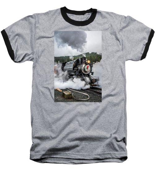 Engine No. 17 Elbe Christmas Train Baseball T-Shirt