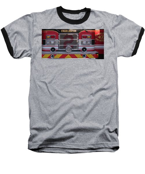 Engine Number Two Baseball T-Shirt by Patricia Schaefer