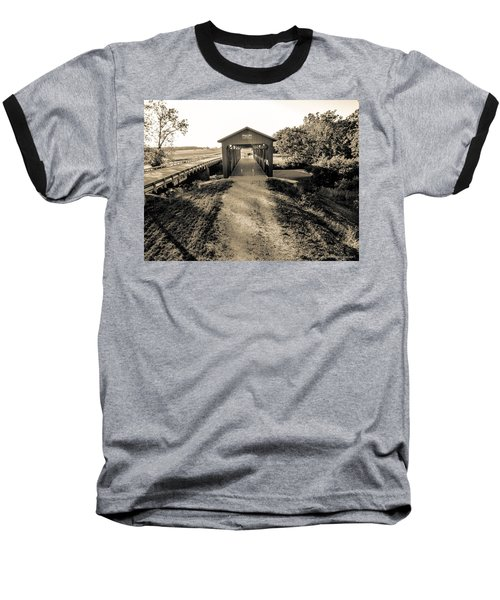 Engle Mill Covered Bridge Baseball T-Shirt