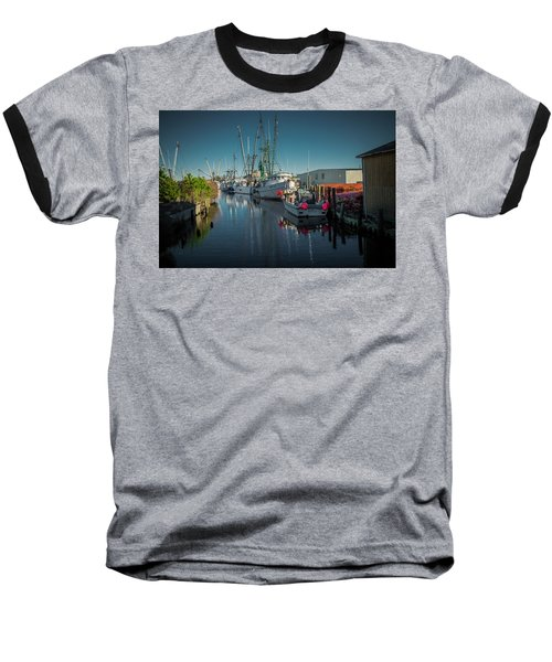 Englehardt,nc Fishing Town Baseball T-Shirt