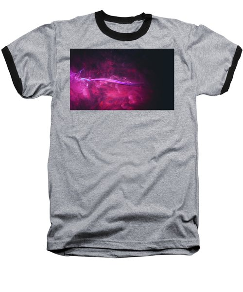 Enigma - Purple Abstract Photography Baseball T-Shirt by Modern Art Prints