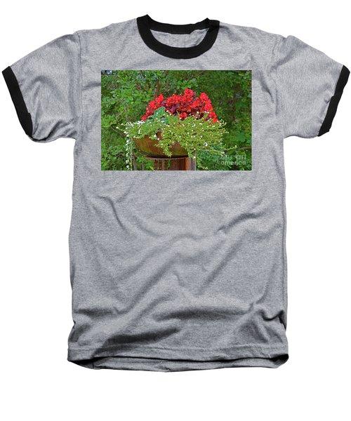Enjoy The Garden Baseball T-Shirt by Ray Shrewsberry
