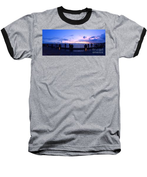 Enjoying The Beautiful Evening Sky Baseball T-Shirt by Yali Shi