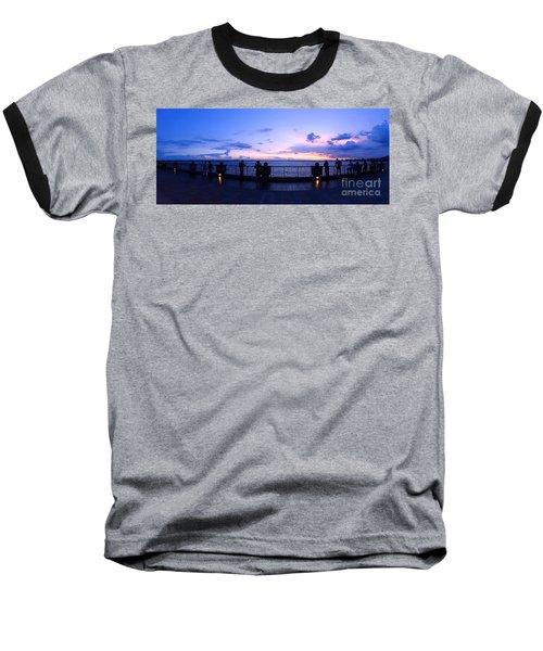 Enjoying The Beautiful Evening Sky Baseball T-Shirt by Yali Shi