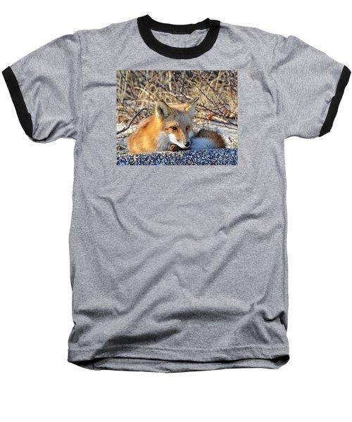 Enjoying The Sun Baseball T-Shirt by Sami Martin